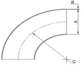 ANSI/ASME B16 9 1 5D Elbow, Welding Elbow, 1 5D Elbow