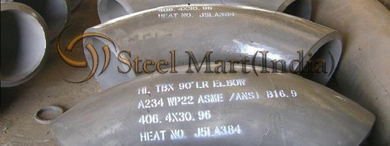 ASTM A234 Alloy Steel WP22 Butt Weld Pipe Fittings Manufacturers