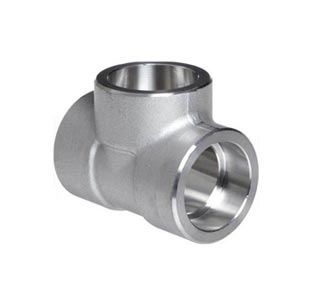 Stainless Steel Socket Weld Unequal Tee